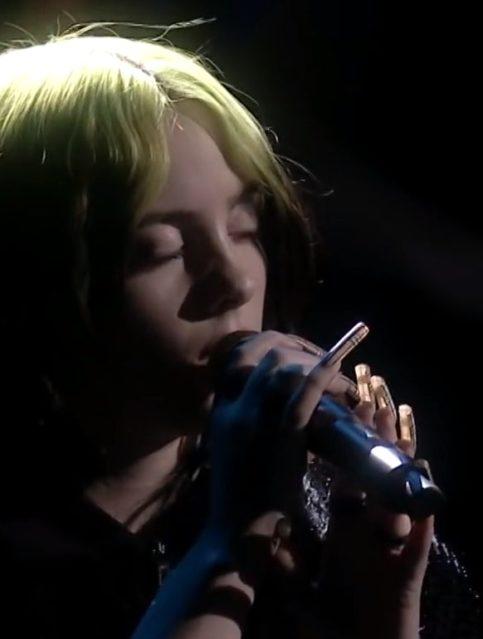 Billie Eilish - No Time To Die - BRIT Awards - Capture YouTube