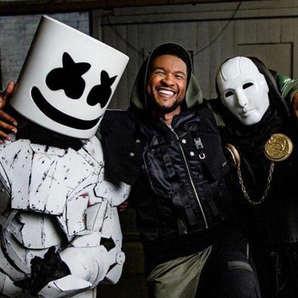Marshmello x Usher x Imanbek - via Instagram