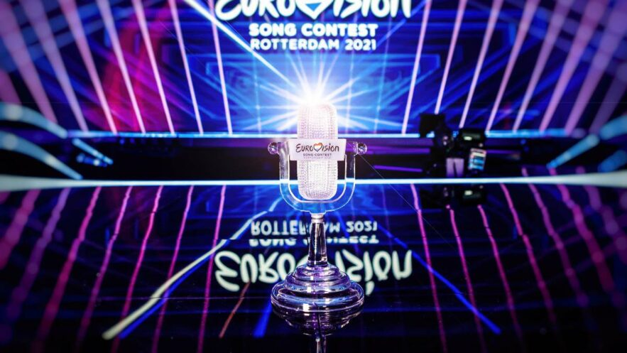 The trophy of the Eurovision Song Contest 2021 - © EBU-THOMAS HANSES
