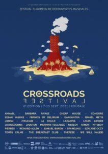 Affiche Crossroads Festival 2021 avec artistes - Valid